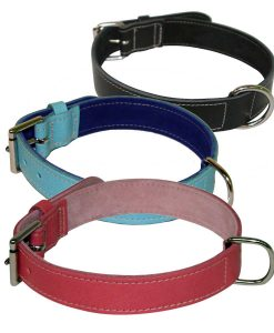 "1.25"" Wide Plain Leather Collar"