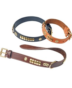 Decorated Leather Collars