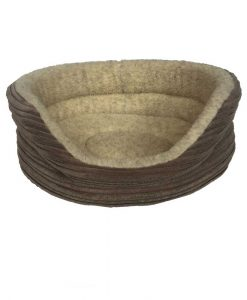 Ribbed Fleece Dog Bed