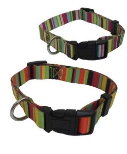 Adjustable Nylon Striped Collars