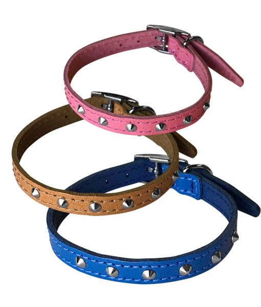 """0.5"""" Studded Leather Collars"""