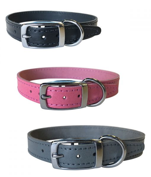 """3/4"""" Leather Collars"""