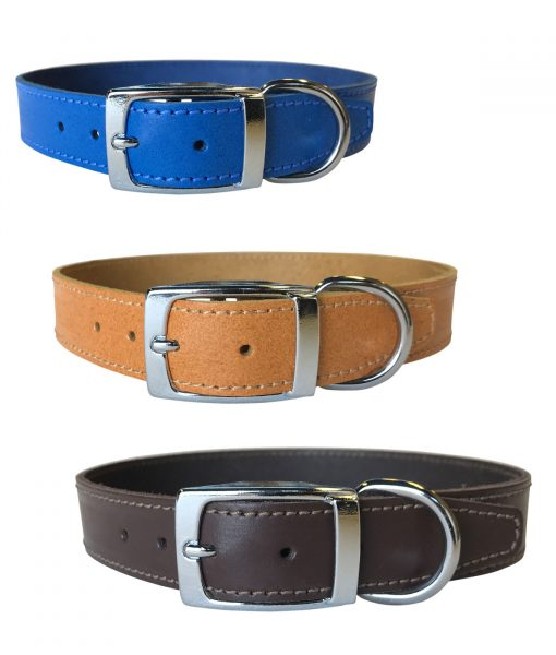 """1"""" Leather Collars"""