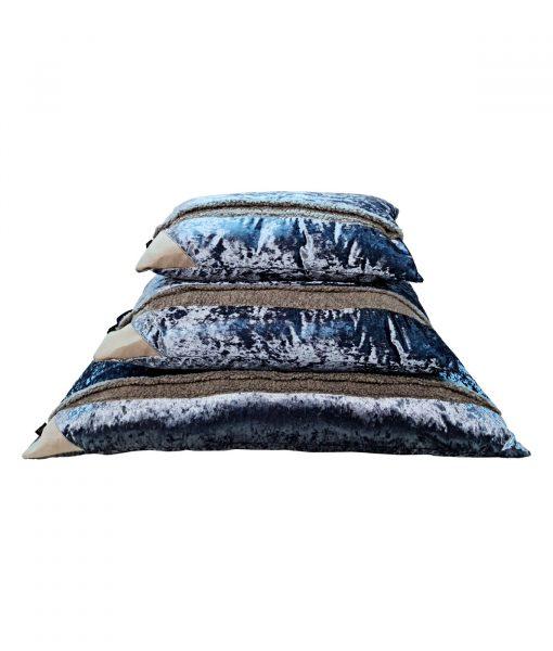 Blue Crushed Velvet Snuggle Beds