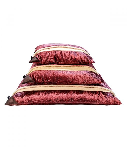 Pink Crushed Velvet Snuggle Beds