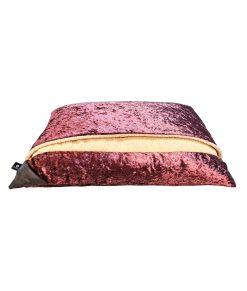 Pink Crushed Velvet Snuggle Bed
